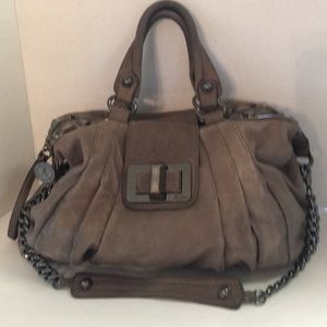 Guess by Marciano pleated leather satchel